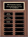 Genuine Walnut Perpetual Plaques Achievement Awards