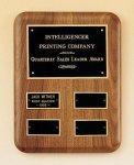 Solid American Walnut Quarterly Award Plaque Achievement Awards