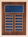Solid American Walnut Perpetual Plaque Achievement Awards