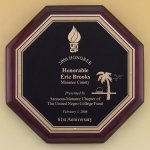 Octagonal Rosewood Piano Finish Plaque Achievement Awards