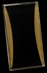 Black/Gold Standing Reflection Acrylic Award Recognition Plaque Achievement Awards