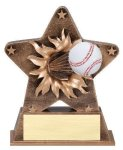 Star Burst Resin -Baseball Baseball Trophy Awards
