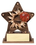 Star Burst Resin -Basketball Basketball Trophy Awards