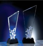 M.C. Hollywood Black Optical Crystal Awards