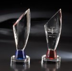 Euphoria (Blue) Blue Optical Crystal Awards