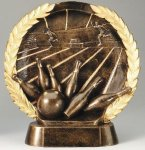 Resin Plate -Bowling Bowling Trophy Awards
