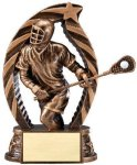 Antique Bronze and Gold Award -Lacrosse Male  Bronze and Gold Star Resin Trophy Awards