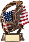 Bronze and Gold Award -Eagle Bronze and Gold Star Resin Trophy Awards