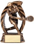 Bronze and Gold Award -Tennis Male  Bronze and Gold Star Resin Trophy Awards