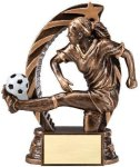 Bronze and Gold Award -Soccer Female Bronze and Gold Star Resin Trophy Awards