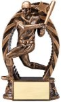 Antique Bronze and Gold Award -Softball Female  Bronze and Gold Star Resin Trophy Awards