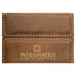 Leatherette Hard Business Card Holder -Rustic/Gold Business Card Holders