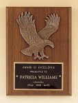 American Walnut Plaque with Eagle Casting Cast Relief Plaques
