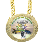 Plastic Champ Medal -Bright Gold CHAMPIONSHIP BELTS AND CHAINS