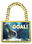 Champ Medal -Bright Gold Rectangle CHAMPIONSHIP BELTS AND CHAINS