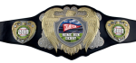 Bright Gold & Silver Legion Belt with Black Leather CHAMPIONSHIP BELTS AND CHAINS