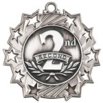 Ten Star Medal -2nd Place  Cheerleading Trophy Awards