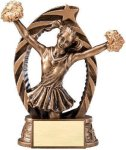 Antique Bronze and Gold Award -Cheer  Cheerleading Trophy Awards