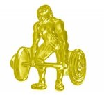 Weightlifter Chenille Pin Chenille Lapel Pins