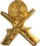 Crossed Rifles Pin Chenille Lapel Pins