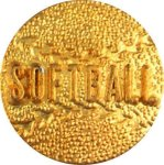Softball Chenille Lapel Pins