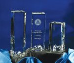 World Tower Clear Optical Crystal Awards