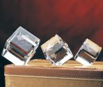 Beveled Cube Clear Optical Crystal Awards