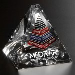 Stockton Pyramid Clear Optical Crystal Awards