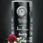 Greenwich Clock Clear Optical Crystal Awards