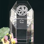 Amherst Award Clear Optical Crystal Awards