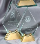 Crystal Spear On Base Large Corporate Crystal Awards