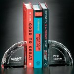 Bookends Crystal Glass Awards