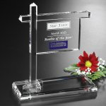 Real Estate Sign Crystal Glass Awards
