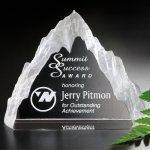 Matterhorn Award Crystal Glass Awards