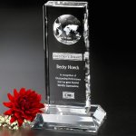 Lewiston Global Award Crystal Glass Awards