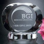 Harmony Oval Crystal Glass Awards