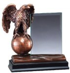 Eagle With Glass Eagle Resin Trophy Awards