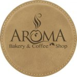 Leatherette Round Coaster -Light Brown Employee Awards
