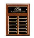 Walnut Piano Finish Perpetual Plaque Employee Awards