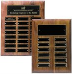 Solid Walnut High Gloss Perpetual Plaque Employee Awards
