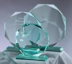 Premium Glass Octagon Employee Awards