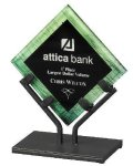 Acrylic Art Galaxy Award - Green Executive Gift Awards