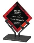 Acrylic Art Galaxy Award - Red Executive Gift Awards