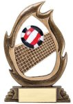 Flame Series -Volleyball Flame Resin Trophy Awards