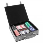 Leatherette Poker Gift Set -Gray Game Gifts