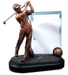 Golfer with Glass Golf Awards