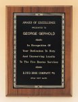 Walnut Plaque with Brass Engraving Plate Golf Awards