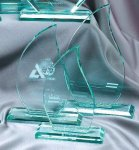Premium Glass Flame Jade Glass Awards