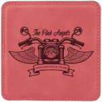 Leatherette Square Coaster -Pink Kitchen Gifts