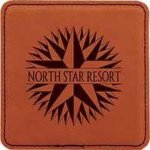 Leatherette Square Coaster -Rawhide Kitchen Gifts